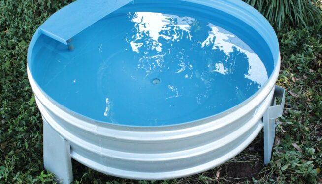 Bebedouro Fundo cônico - Produto destinado ao armazenamento de água para bovinos.